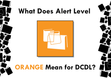 What does alert level orangemean for DCDL?