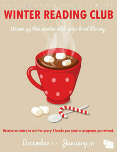 Winter Reading Club, warm up this winter with your local library