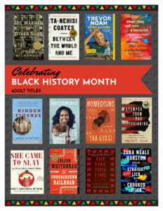 Reading list of titles celebrating Black History Month