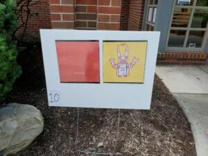One panel of a Powell branch library storywalk