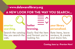 A new look for the way you search. Search smarter. Better browsing. Your library personalized.