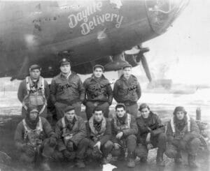 delaware county veterans pose for a picture in front of the daylite delivery